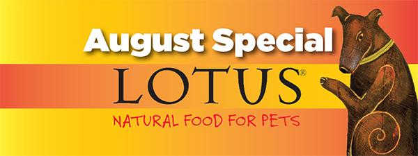 On Sale Now: Lotus Pet Foods