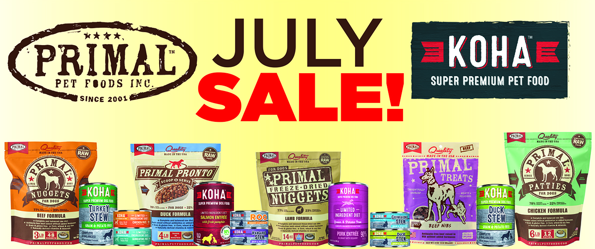July Sale – Primal & Koha